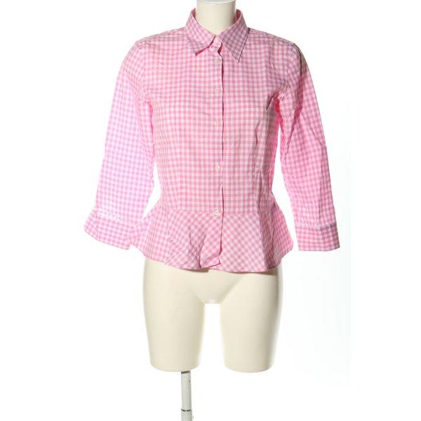 Ralph Lauren Holzfällerhemd pink-weiß Allover-Druck Casual-Look