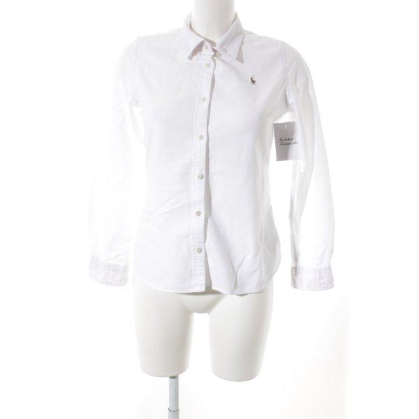 Ralph Lauren Langarmhemd weiß schlichter Stil