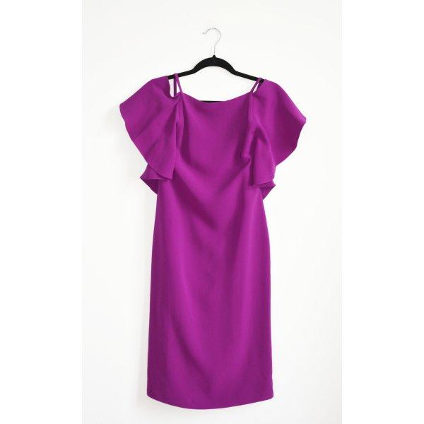 Ralph Lauren Purple Label Kleid Seidenkleid Volants Seide CHARLOTTE US 10 DE 40