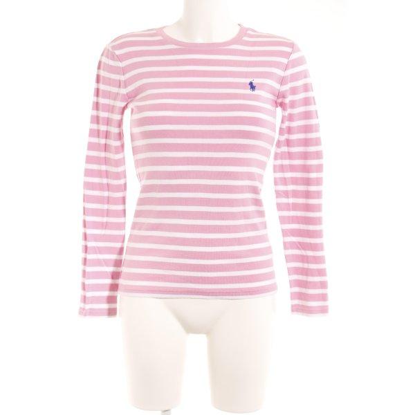 Ralph Lauren Sport Gestreept shirt wit-roze gestreept patroon simpele stijl