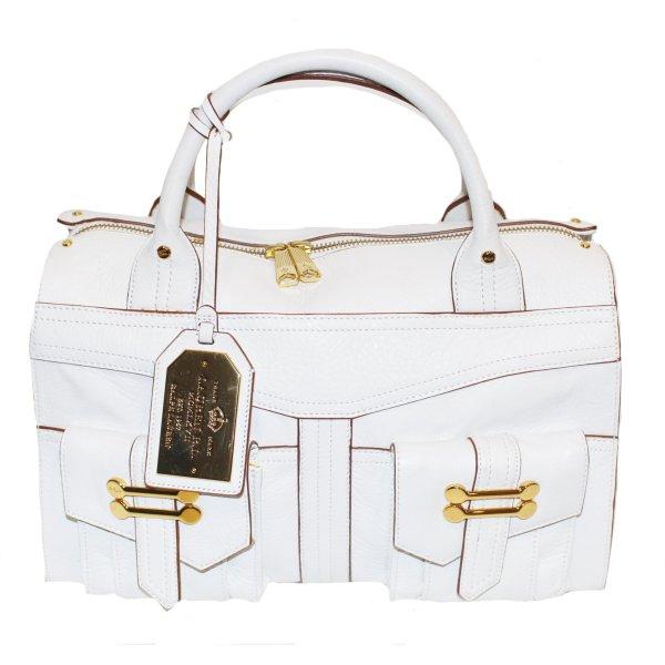 RALPH LAUREN Tasche weiß Leder