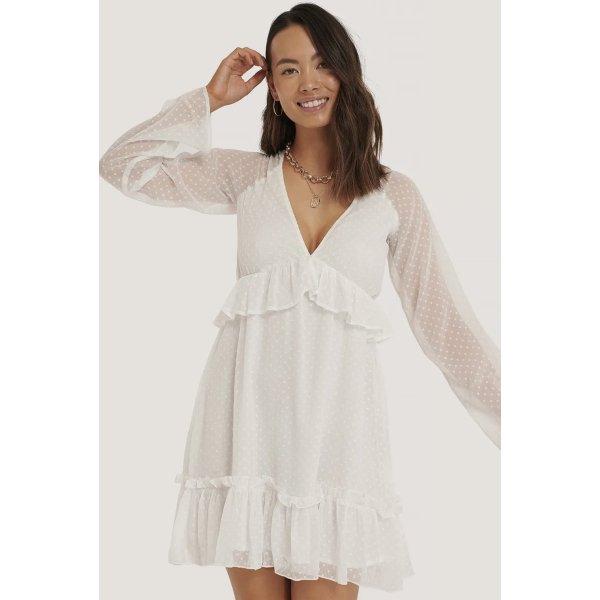 Ratière-Kleid Mit Tiefem V-Ausschnitt