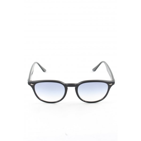 Ray Ban ovale Sonnenbrille schwarz Business-Look