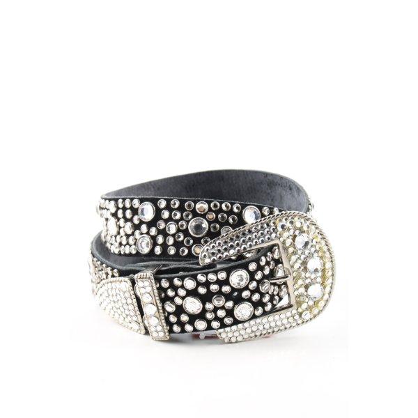 rd design Nietengürtel schwarz-weiß extravaganter Stil