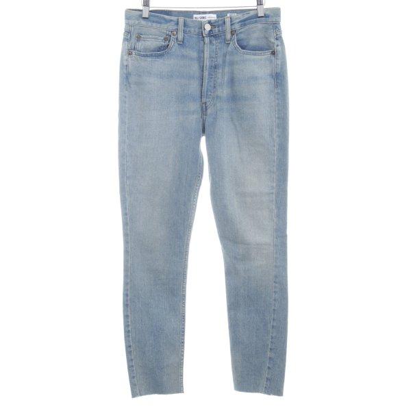 RE / DONE Slim Jeans kornblumenblau Washed-Optik