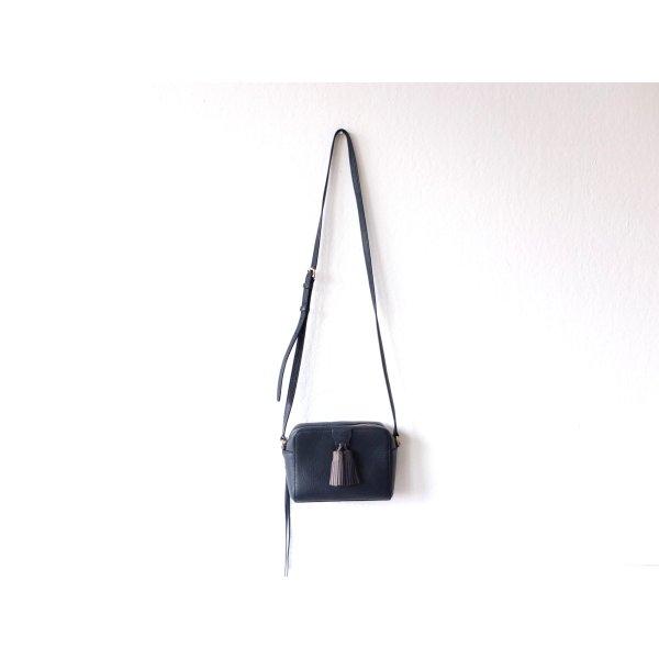 Rebecca Minkoff Umhängetasche Tasche dunkelblau grau Leder