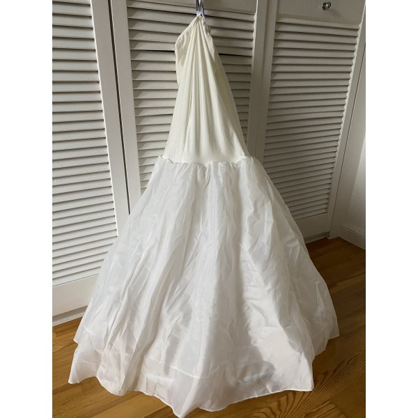 Gonna in crinolina bianco sporco-crema Tessuto misto
