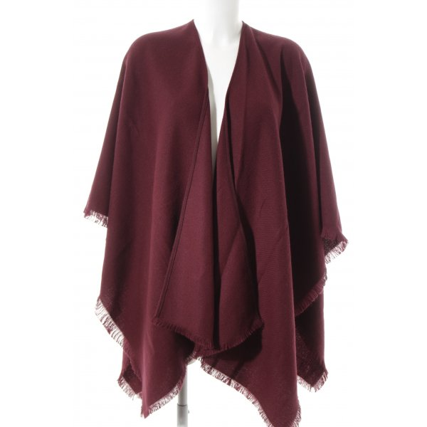 Reiss Poncho purpur Casual-Look