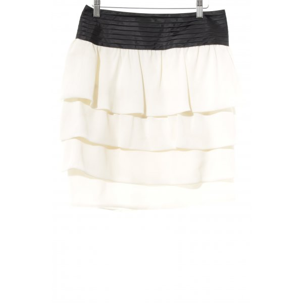 Reiss Falda con volantes crema-negro elegante