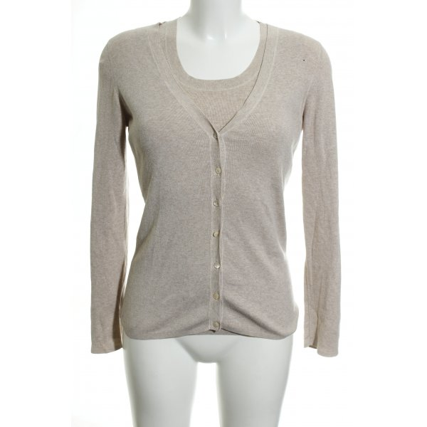 Repeat Jersey Twin Set creme meliert Casual-Look