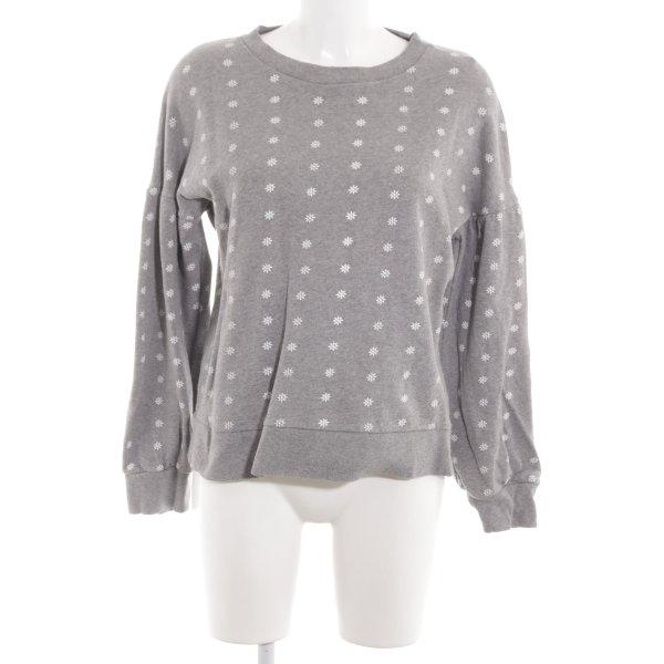 Repeat Sweatshirt hellgrau-weiß Allover-Druck Casual-Look