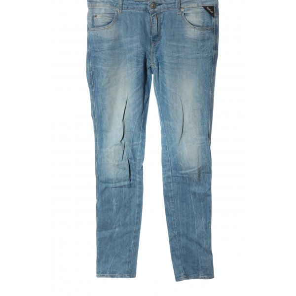 Replay Skinny Jeans blau Street-Fashion-Look