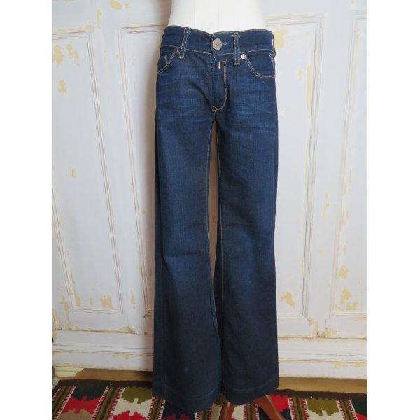 Replay Teena Blue Jeans Gr. 25/26  dunkelblau blau W27 L32 Denim 34 XS flared Jeans