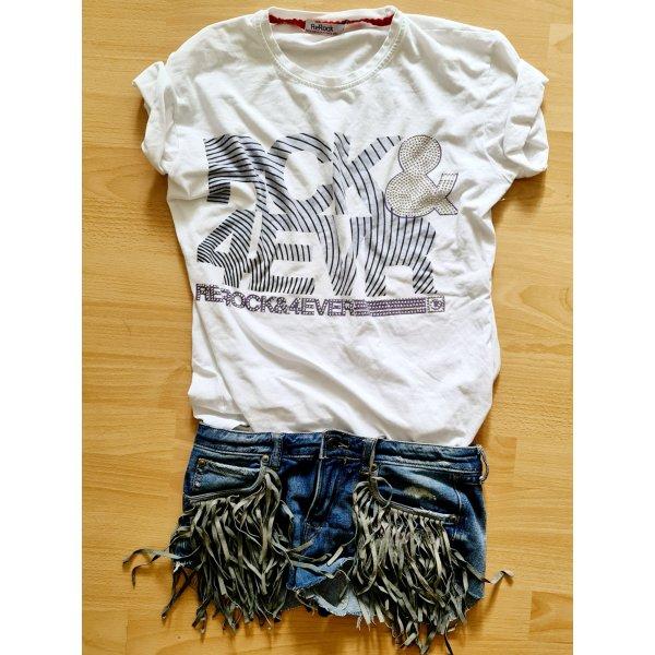 ReRock Rock 4 ever strass shirt tee Ibiza rocker