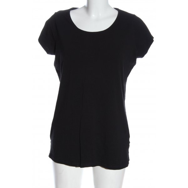 Reserved Basic-Shirt schwarz Casual-Look