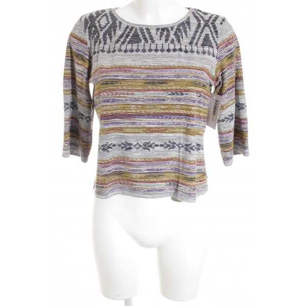 Reserved Ringelshirt weiß-limettengelb Streifenmuster Casual-Look