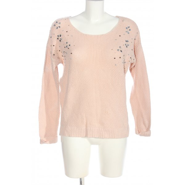 Reserved Rundhalspullover creme Casual-Look