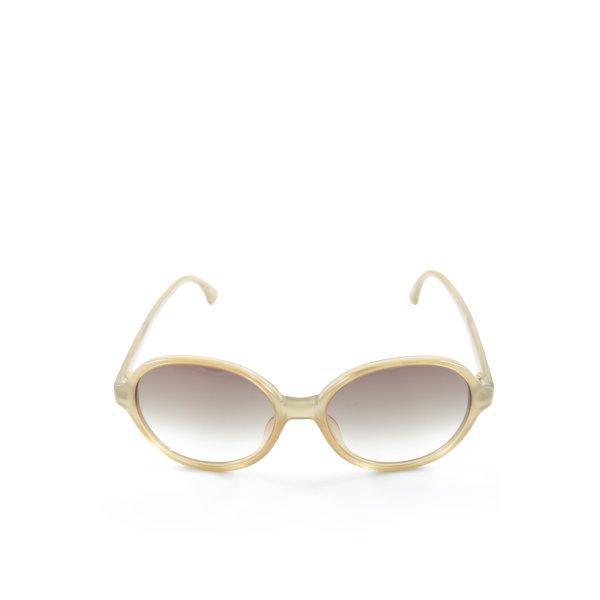 Retro Brille sandbraun Street-Fashion-Look