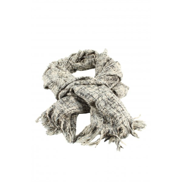 Review Knitted Scarf cream-black flecked casual look