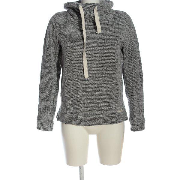 Review Sweatshirt schwarz-weiß meliert Casual-Look