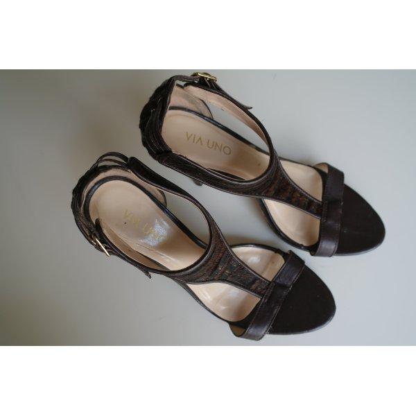 Riemchen-sandalen Mit Homem Absatz - Via Uno