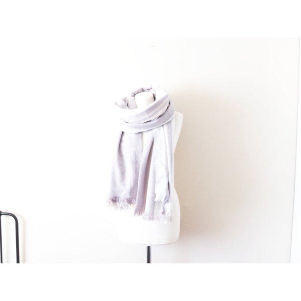 riesengroßer weiß grauer xxl Asos Schal weiß grau beige stripped plaid