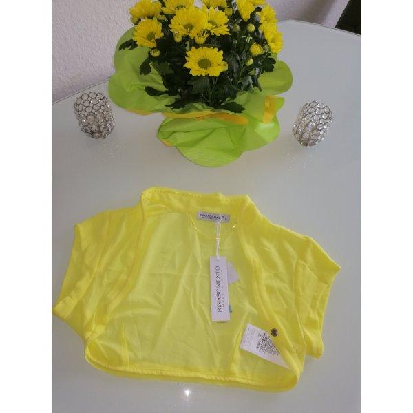 Rinascimento Damen Sommer Chiffon Bolero-Jäckchen gelb Gr. M 36