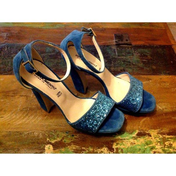 Rinascimento High Heel Sandal multicolored suede