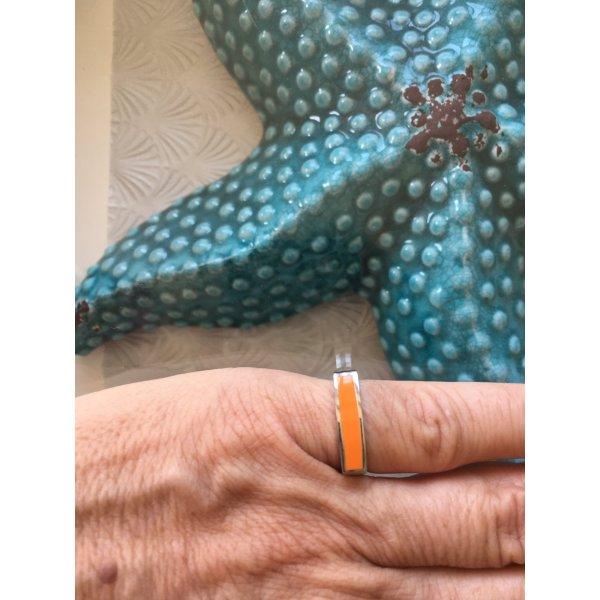 Ring, orangefarben von Jacques Lemans