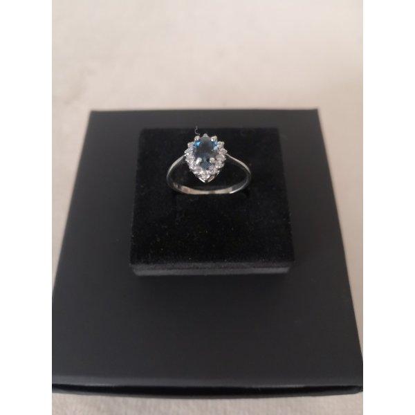 Ring Silber 925 Rohdiert Mit Lindon blue Topas Größe 58