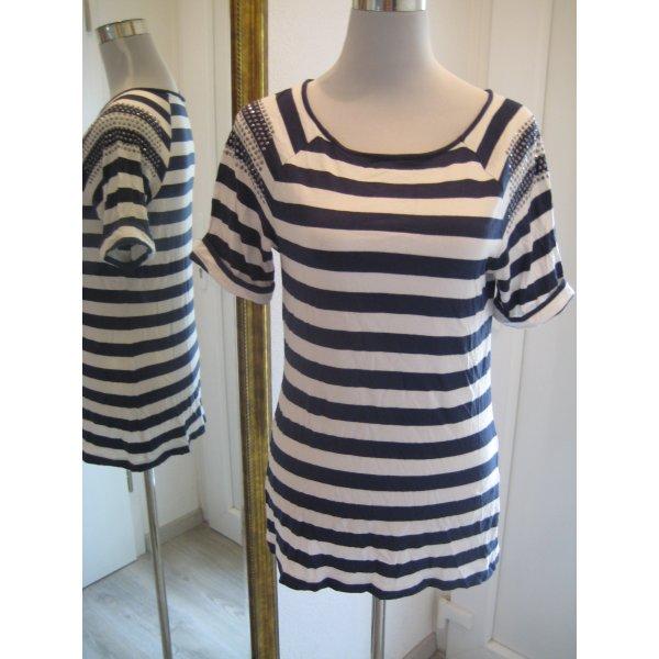 Gerry Weber Gestreept shirt wit-donkerblauw