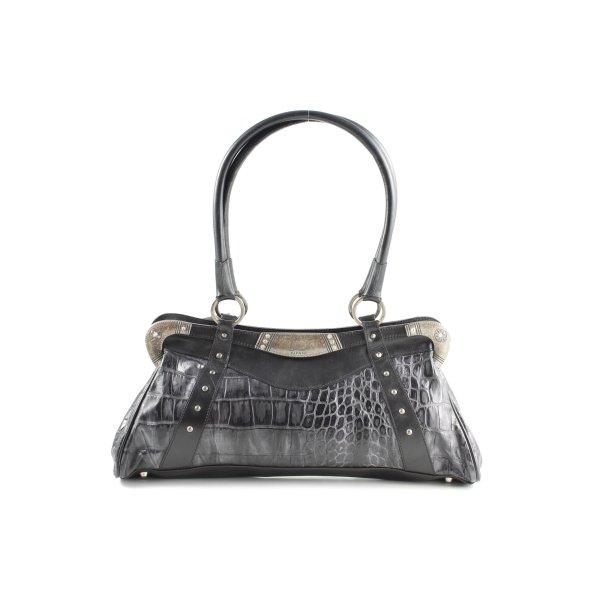 Handtasche schwarz Animalmuster extravaganter Stil