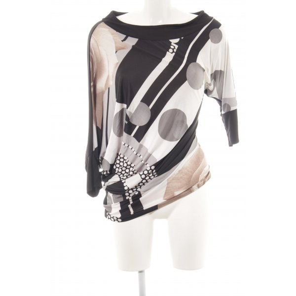 Risskio Schlupf-Bluse abstraktes Muster Casual-Look