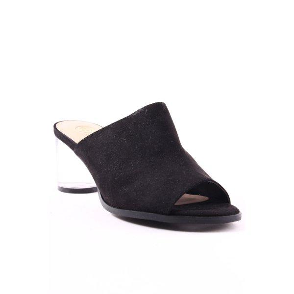 River Island Heel Pantolettes black-beige street-fashion look