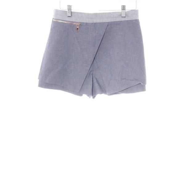 River Island Shorts azul acero-blanco estampado con diseño abstracto