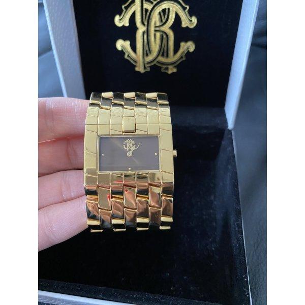 Roberto Cavalli Damenuhr Armbanduhr, gold. Top Zustand!