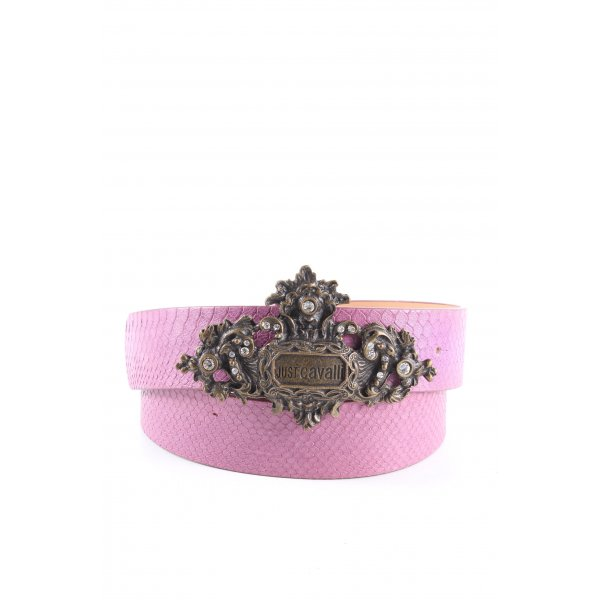 Roberto Cavalli Belt Buckle lilac animal pattern casual look