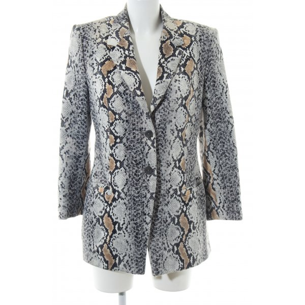 Roberto Cavalli Long-Blazer Allover-Druck Business-Look