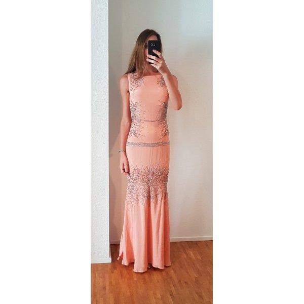 Roberto Cavalli luxus Designer Hochzeitskleid peach Brautkleid Abendkleid brautjungfer