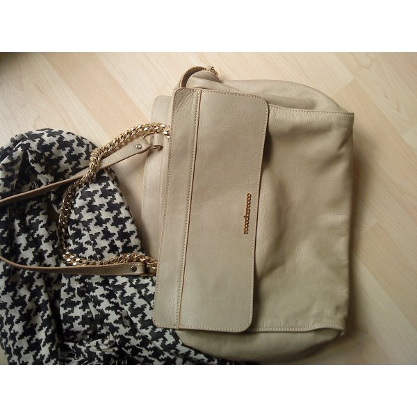 """ roccobarocco "" Tasche in beige Leder made in Italy"