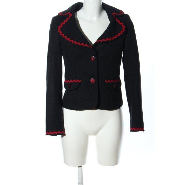 rock-it-baby Woll-Blazer schwarz-rot Business-Look