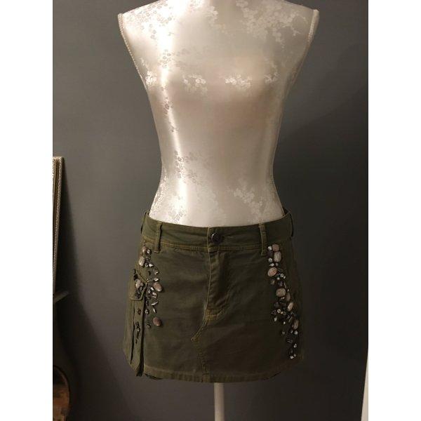 Guess Premium Mini-jupe gris vert coton