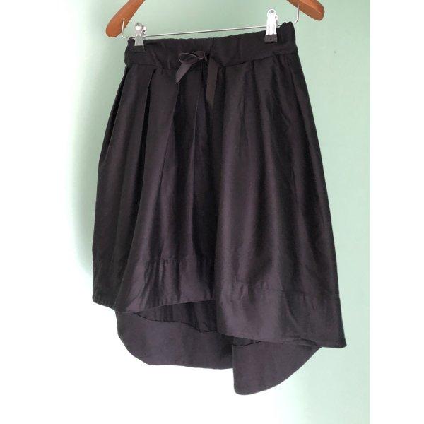 Rock, Skirt, eleganter Rock, Rock, schwarzes asymmetrisches Kleid S