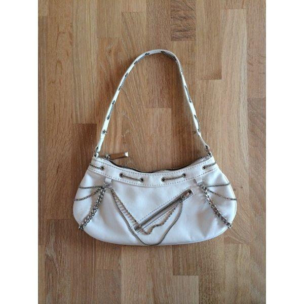 Rockige kleine Handtasche von Mango weißer Lederlook