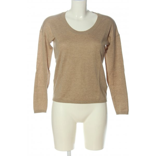 Rodier Feinstrickpullover nude meliert Casual-Look