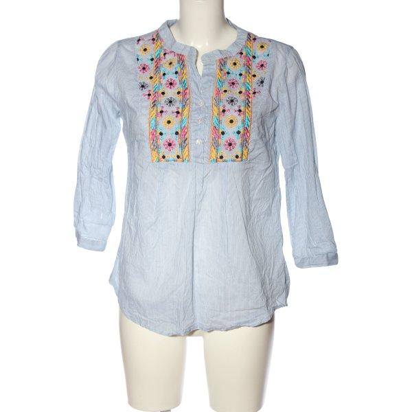 Romeo & Juliet Couture Langarm-Bluse blau-weiß Streifenmuster Casual-Look