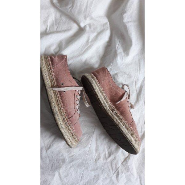 Zara Basket à lacet or rose-blanc cassé cuir