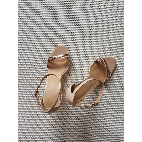 Rosé Metallic Sandalette