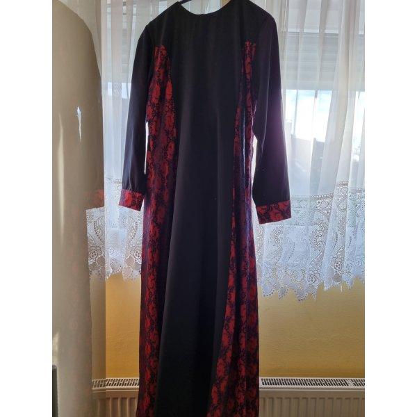 Rot schwarze Abendkleid