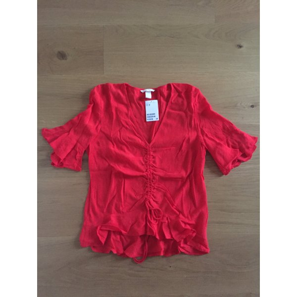 H&M Blouse Shirt red